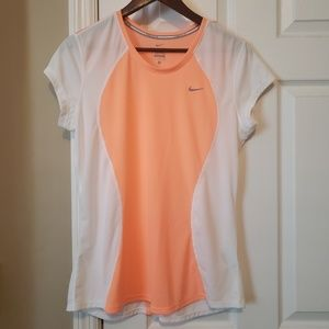 NEW Nike Peach & White Dri-Fit Top Ladies Large